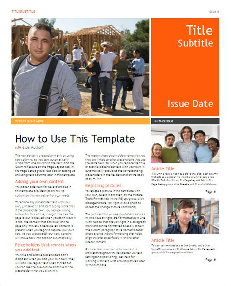 5 School Newsletter Templates Doc Pdf Free Premium Templates Newsletter Templates For Drive