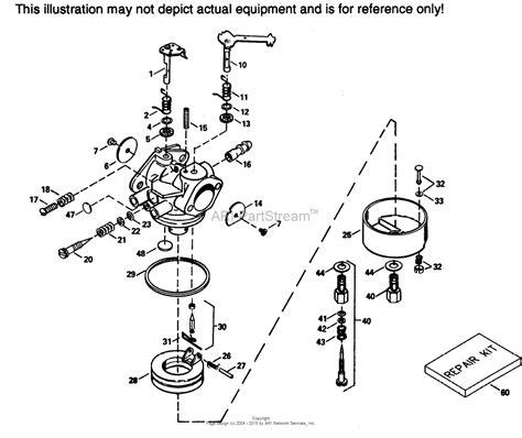 tecumseh carburetor parts diagram tecumseh tec 632351 parts diagram for carburetor