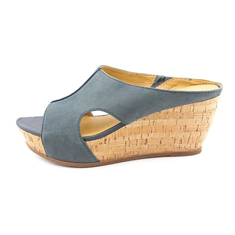 franco sarto fiora womens leather wedge sandals shoes ebay