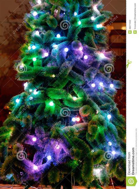 electric tree lights electric lights tree stock photo cartoondealer com 22023528
