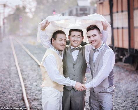 Three Thai Men Tie The Knot In Fairytale Ceremony