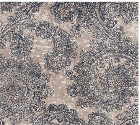 printed rug ravati paisley printed rug blue pottery barn