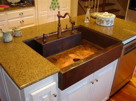 kitchen with copper sink kitchen sinks buying guides designwalls