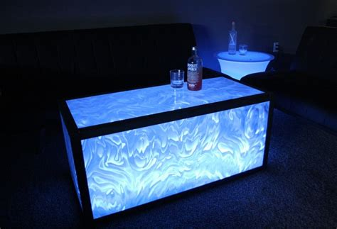 tips to create a lighted acrylic coffee table home decor