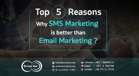 Email Marketing 5 by Top 5 Reasons Why Sms Marketing Is Better Than Email Marketing