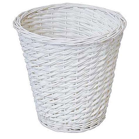 waste paper baslet bin waste paper basket rubbish white bedroom room kitchen