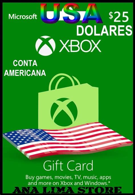 Xbox One Points Gift Card - cart 227 o xbox live gift card 25 dolares xbox one ms points r 112 00 em mercado livre