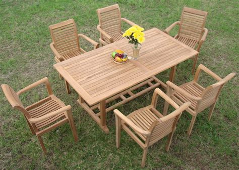 Teak Patio Dining Sets 13 Luxurious Grade A Teak Dining Set Teak Patio Furniture World