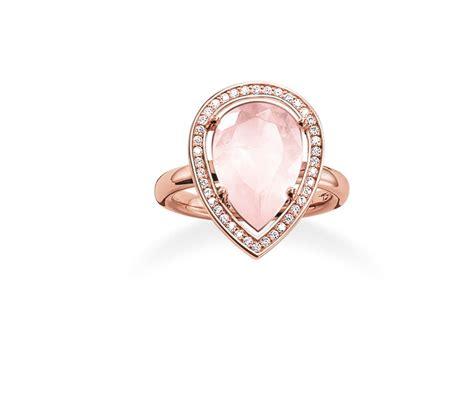 Wedges Maharani Pink sabo maharani quartz drop ring in pink lyst