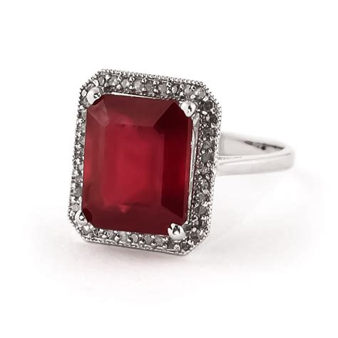 Ruby 7 9ct ruby halo ring 7 45 ctw in 9ct white gold 4894w qp