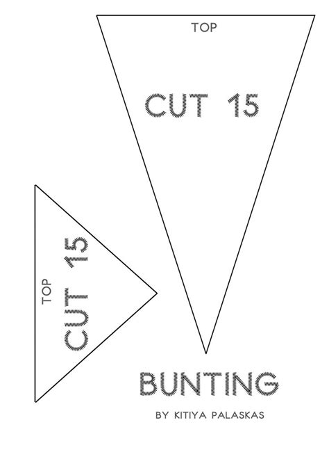 bunting template bunting template craft ideas