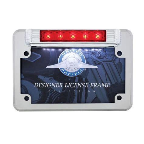 motorcycle license plate frame with led brake light led motorcycle license plate frame deluxe vintage design