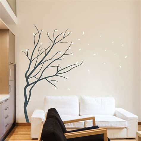 adhesive wall stickers winter blossom tree wall sticker by wallboss wallboss wall stickers wall stickers uk