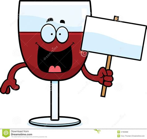 cartoon wine cartoon wine sign stock vector illustration of smiling