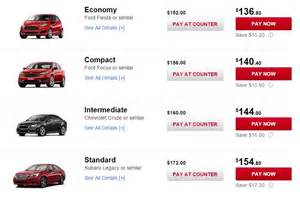National Car Rental Vs Avis Why You Re Foolish To Rent A Quot Standard Quot Car Points With
