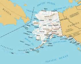 map of alaska and canada alaska