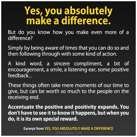 Make You Work a difference articles at zerosophy