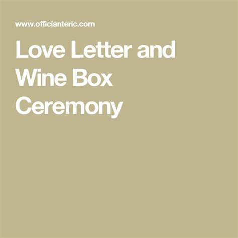 Wedding Box With Wine And Letters by Best 25 Wine Box Ceremony Ideas On Wedding