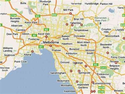 suburbs of map map of melbourne suburbs holidaymapq