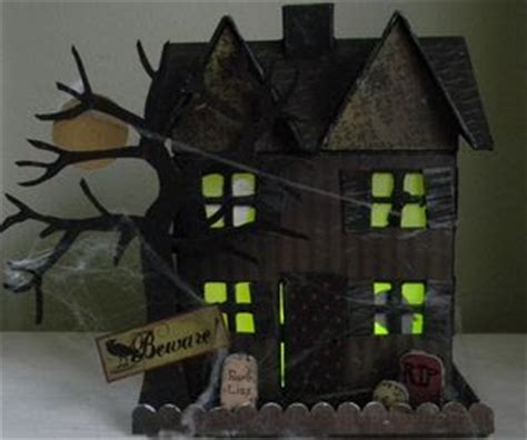 How To Make A Paper Haunted House - side of the net and links new