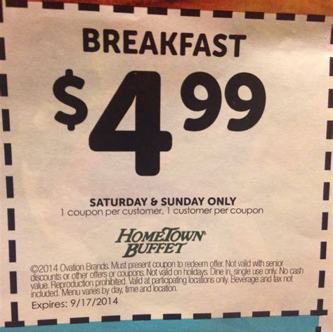breakfast coupon yelp