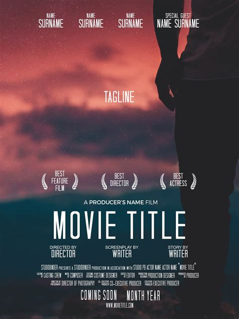 Download Your Free Movie Poster Template For Photoshop Studiobinder Documentary Poster Template