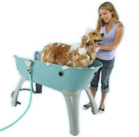 raised dog bathtub elevated dog bathtub from booster bath modern dog magazine