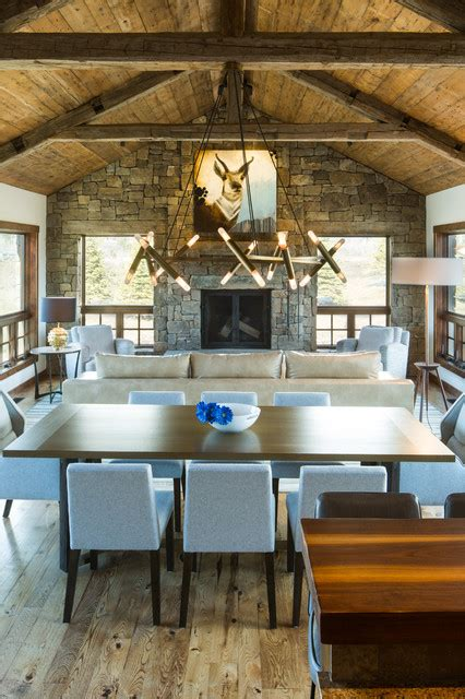 grace home design inc shooting star dining living rustic dining room other