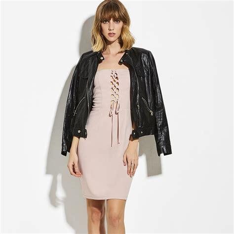 Rastera Plain Bodycon Mini Dress s strapless front lace up plain bodycon mini dress n14937