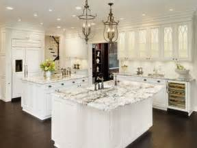 White Kitchen Cabinets Ideas For Countertops And Backsplash alaska white granite white cabinets backsplash ideas