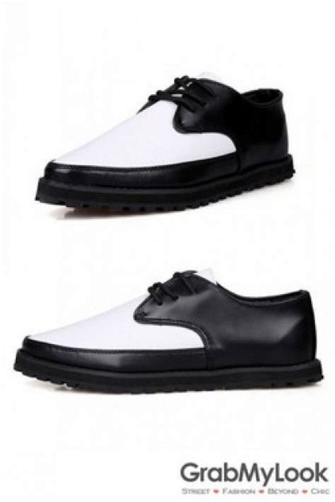 s corner shoes oxford black white leather