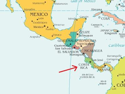 america map equator thanks mail carrier dreaming of costa rica vacations