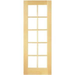 Home Depot French Doors Interior Masonite 30 In X 80 In Smooth 10 Lite French Solid Core