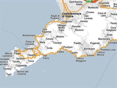 map of amalfi coast visitsitaly the amalfi coast and sorrentine peninsula