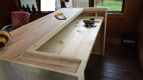how to build a commercial bar top home bar blueprints plans shaped wood processor designing
