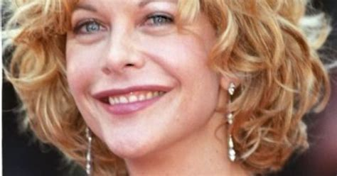 meg ryan hair as a wig short thick curly wavy cut cut and color pinterest