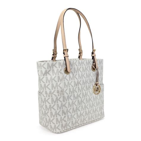 Michael Kors Handbag 4 michael kors jet set signature logo tote handbag in