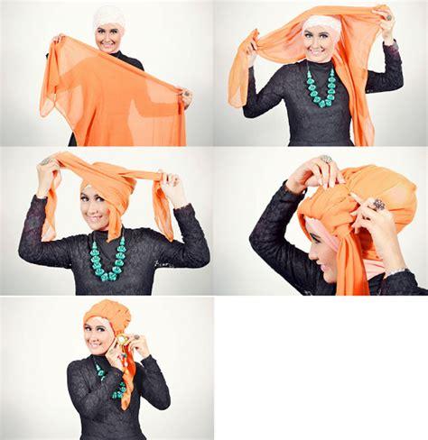 tutorial kerudung turban segi empat tutorial memakai jilbab segi empat turban sabrina news