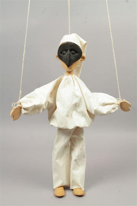 Handmade Marionettes - vintage mid 20c italian masked pulcinella handmade wooden