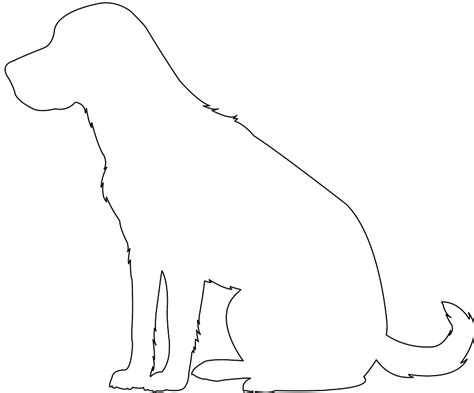 Golden Retriever Sitting Outline by Labrador Retriever Sitting Silhouette Free Vector Silhouettes