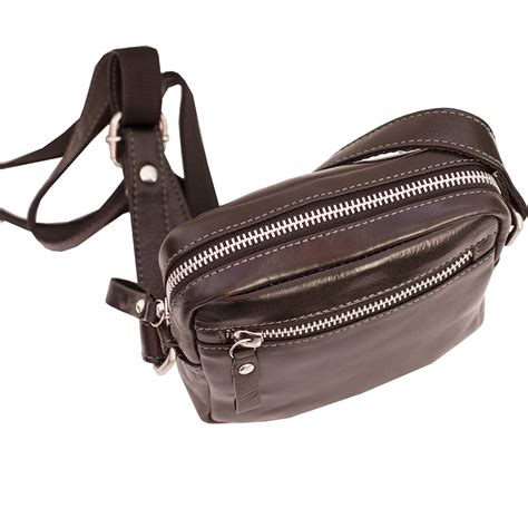 Travel Pouch Himalaya2 prime hide mens brown leather small travel pouch bag