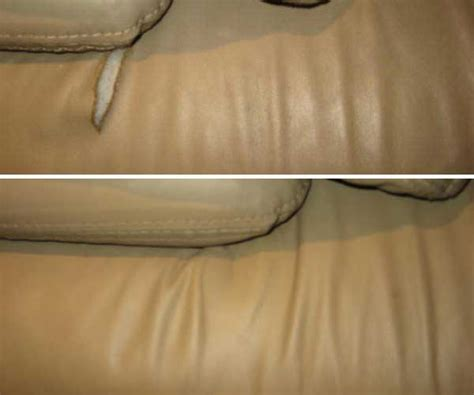 leather furniture repairs color matching before and after
