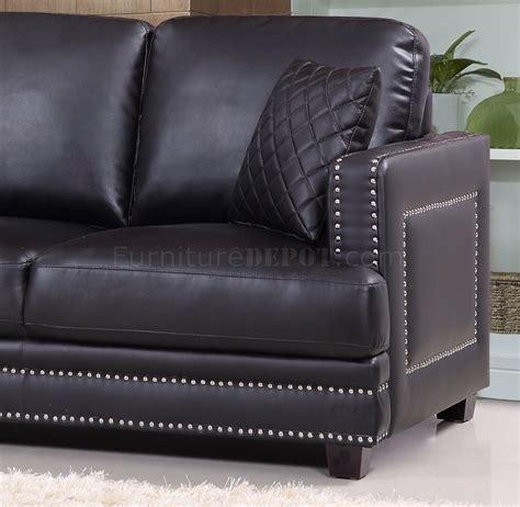 ferrara sofa ferrara sofa 655 in black bonded leather w optional items