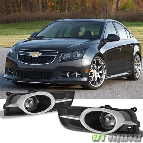 Smoke 2010 2014 Chevy Cruze Bumper Fog Lights Driving