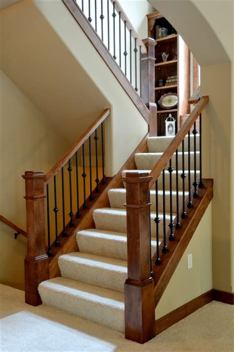 U Stairs Design 2012 Mba Parade Of Homes The Roycroft Craftsman Staircase Other Metro By Belman Homes
