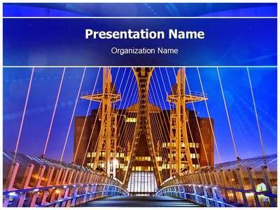 of manchester powerpoint template salford quays lift bridge powerpoint template is one of