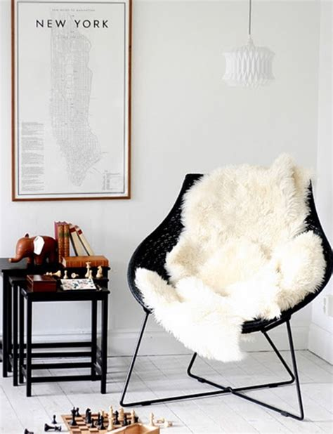 sheepskin throw for rocking chair joining the club sheepskin rugs centsational style