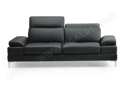 divano canapè canap 233 cuir divani form denis 2 places cuir noir pas cher