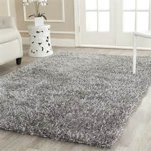 safavieh tufted silken grey shag area rugs sg531