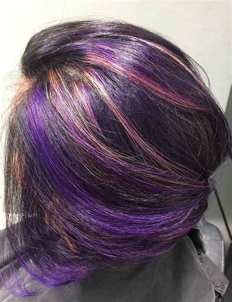 purple shoo for purple highlights purple highlights for brown hair www pixshark com